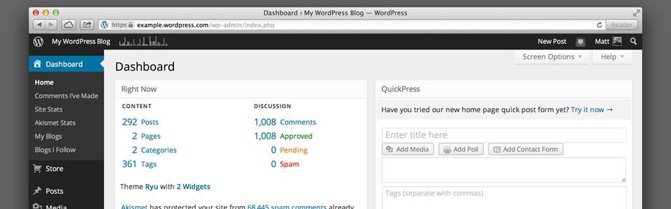 Wordpress hosting and custom Wordpress site development.